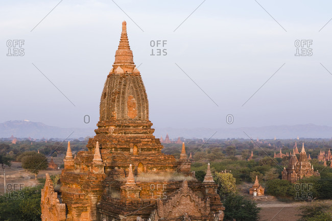 Buddhist stupa in ancient city of Bagan, Mandalay Region, Myanmar