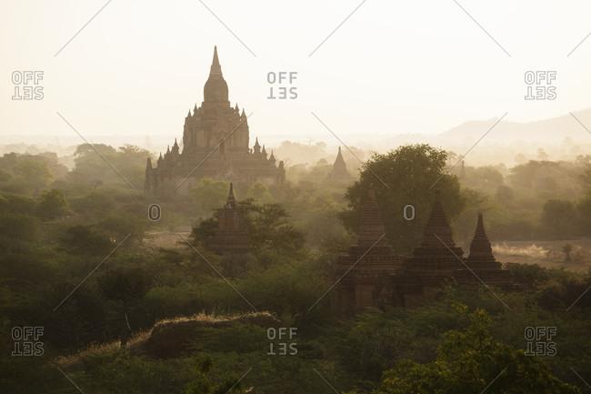 Thisawadi temple  viewed from Dhammayazika Pagoda, Bagan, Mandalay Region, Myanmar