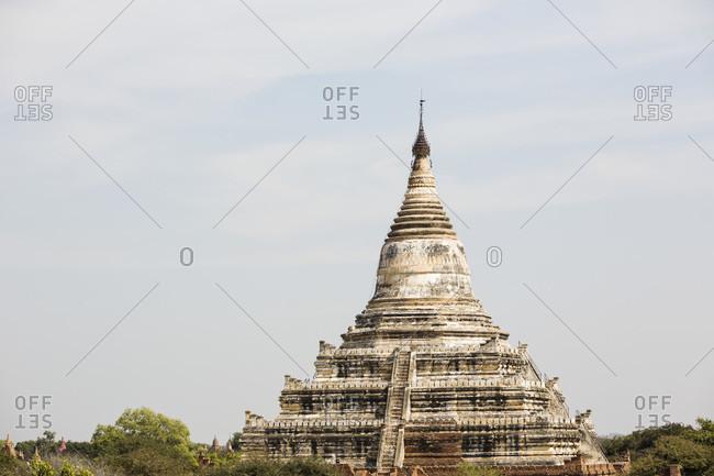 View of  Shwesandaw pagoda,  Bagan, Mandalay Region, Myanmar