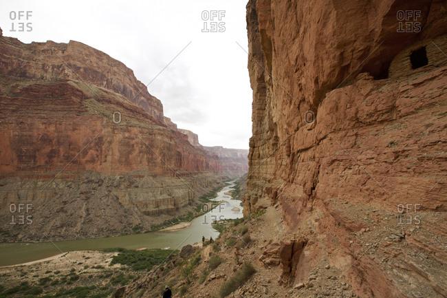 High angle view of Colorado River, Grand Canyon, Arizona, USA