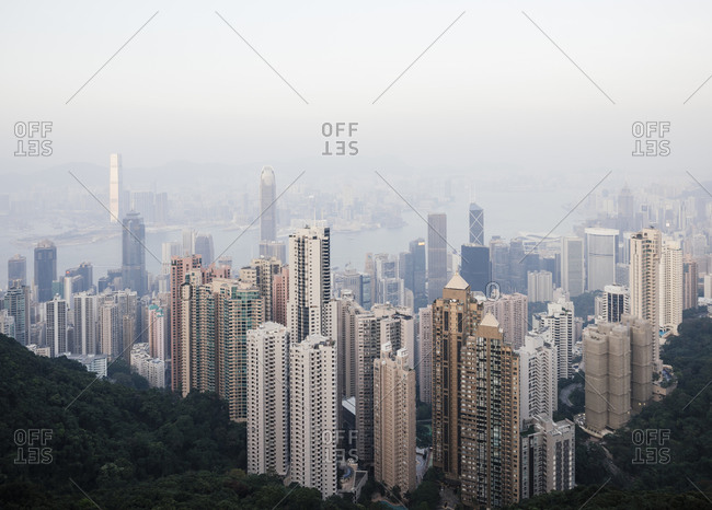 View from Victoria Peak, Central, Hong Kong Island, China