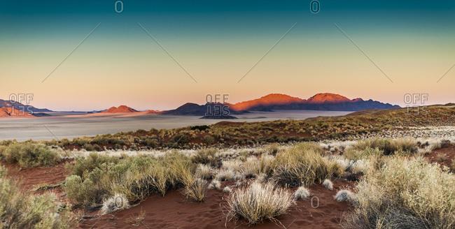 Landscape at dusk in Namibrand Nature Reserve , Namibia