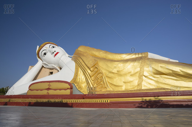Bodhi Tataung, the golden reclining buddha near Monywa, Sagaing Division, Myanmar