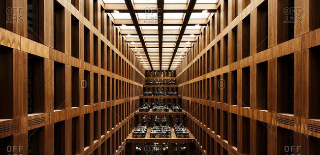 Interior of Jacob-und-Wilhelm-Grimm-Zentrum, Humboldt University, Berlin, Germany