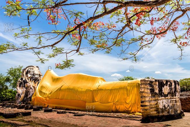 Temple of the Reclining Buddha, Historic City of Ayutthaya, Thailand