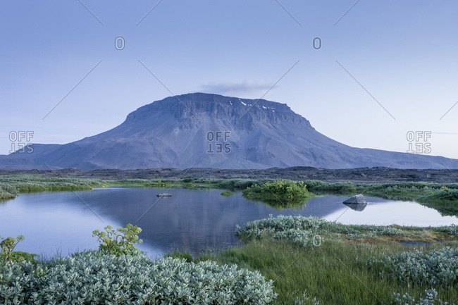 Herdubreid mountain and Herdubreidalindir oasis, Sudur-thigeyjarsysla, Iceland