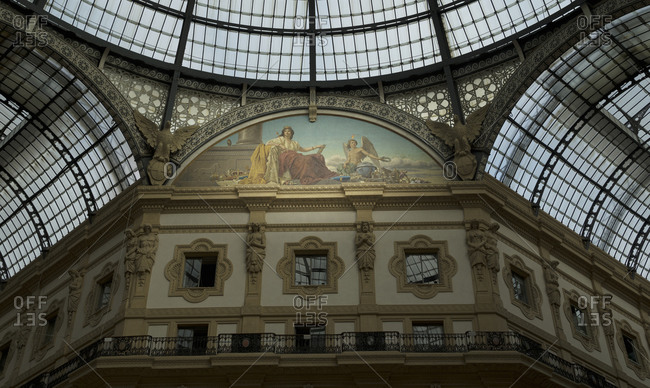 Fresco in Galleria Vittorio Emanuele.  Milan, Italy