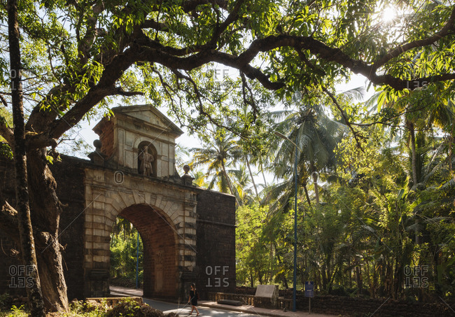Viceroys Arch, Old Goa, Goa, India
