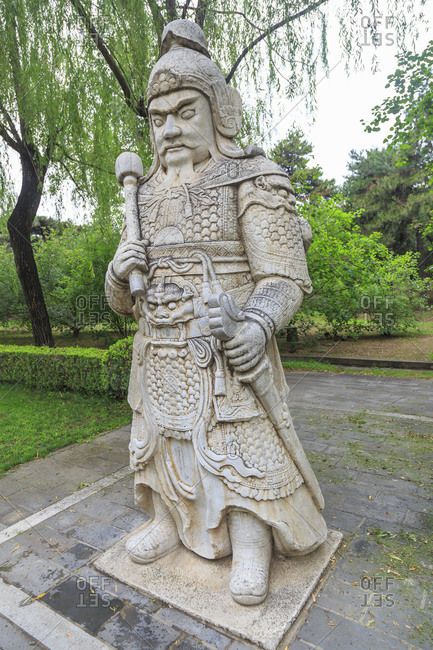 Statue, Ming tombs, near Beijing, China