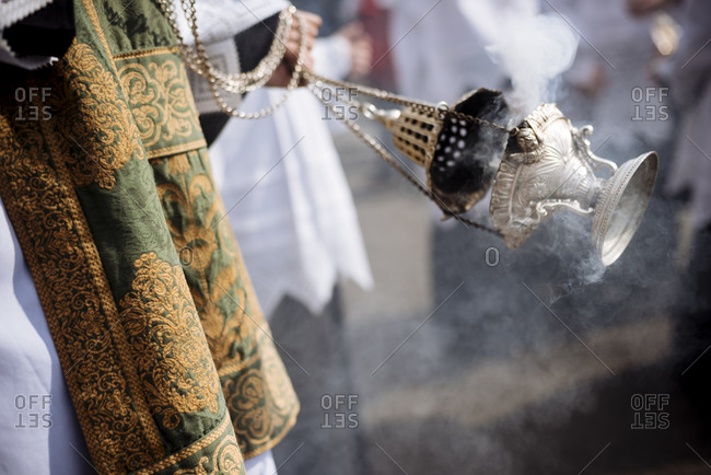 Lanterns of Frankincense during Semana Santa (Holy Week), Seville, Andalucia, Spain