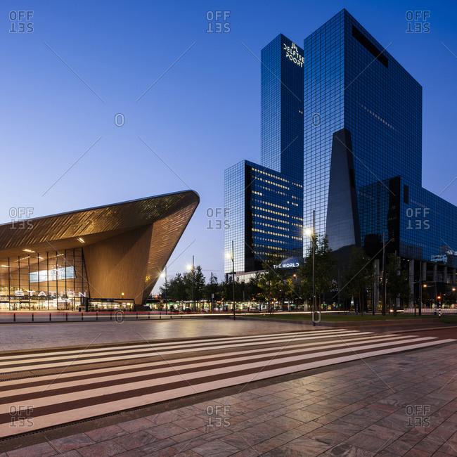 Exterior of Rotterdam Central Station & Delftse Poort, Rotterdam, Netherlands