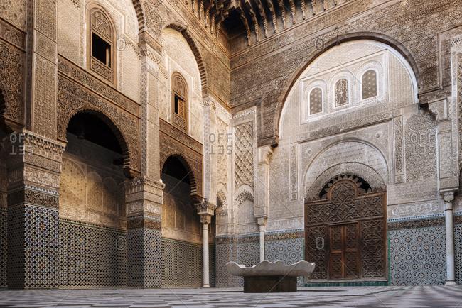 Interior of Al Attarine Madrasa, Fes, Morocco, North Africa