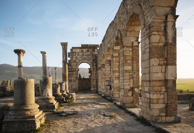 Roman Ruins of Volubilis, Meknes, Morocco, North Africa