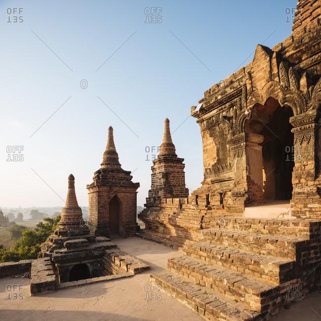 Stone pagodas, Bagan, Mandalay Region, Myanmar