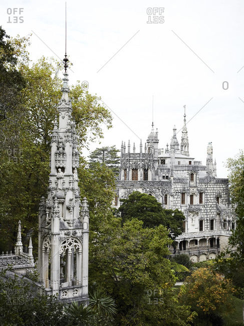View of Quinta da Regaleira, Sintra, Portugal
