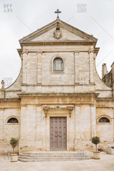 Church facade, Locorotondo, Puglia, Italy