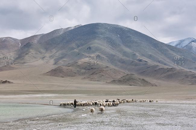 Mountain range, Namco, Xizang, China