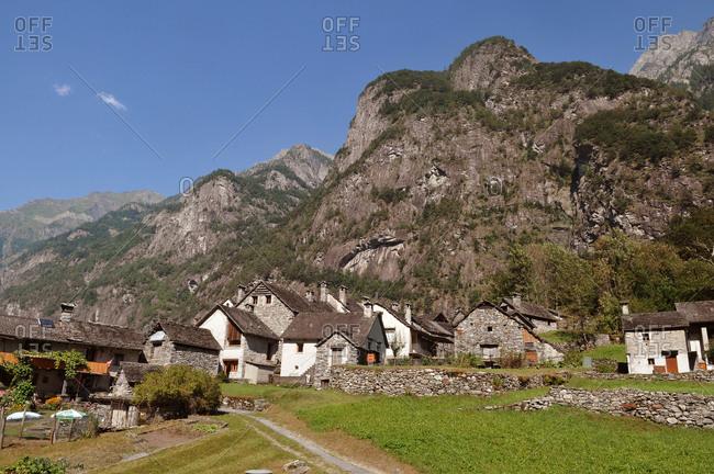 Switzerland, Tecino canton, Val Bavona, little village of Roseto, here ther no electricity