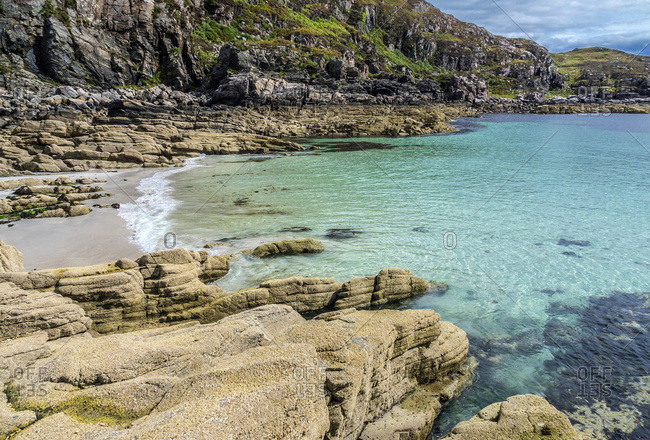 Europe, Great Britain, Scotland, Hebrides, south-east of the Isle of Skye, turquoise sea at Point of Sleat