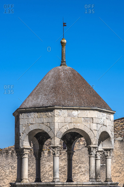 Spain, Catalonia, Girona, apodyterium cupola of the Arab Baths (12th century)