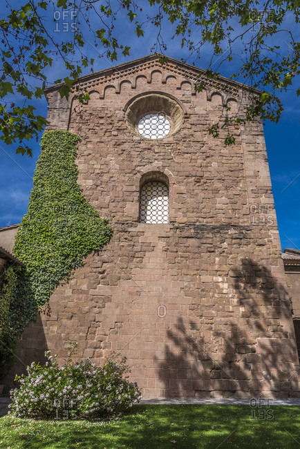 Spain, Catalonia, comarque of Ripolles, Sant Joan de les Abadesses, church of the old monastery (12th century)