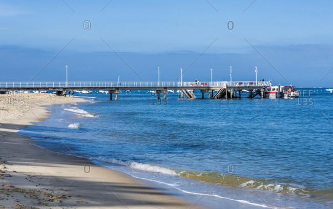 France, Gironde, Arcachon, Moulleau pier