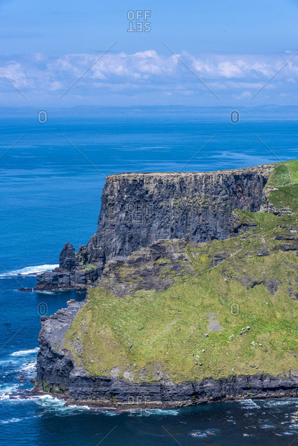 Europe, Republic of Ireland, Clare County, Burren and Cliffs of Moher Geopark (UNESCO World Heritage), North cliffs