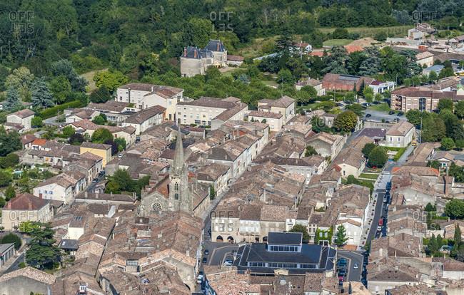 France, Gironde, center of l'Entre-deux-Mers, bastide Monsegur (13th century)