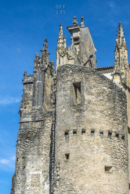 France, Gironde, Haute-Lande girondine, Blaze, dungeon next to the cathedral Saint-Jean-Baptiste (Saint James way)