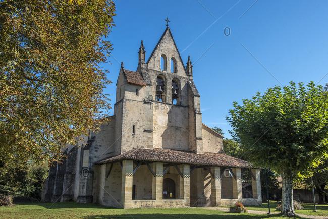 France, Gironde, Haute-Lande girondine, church Saint-Leger of Saint-Leger de Balson