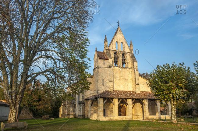 France, Gironde, Haute-Lande girondine, church Sain-Leger of Saint-Leger de Balson