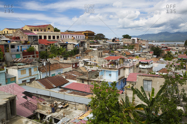 Overview of the city of Santiago de Cuba from the balcony Velasquez and Museum of lucha clandestina, Cuba