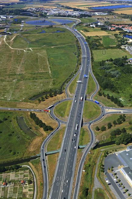 France, Hauts de France, Pas de Calais, Cote d'Opale, Calais. A16 highway