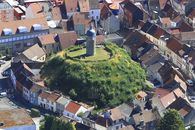 France, Hauts de France, Pas de Calais, Cote d'Opale, close Calais, Guines, clock tower