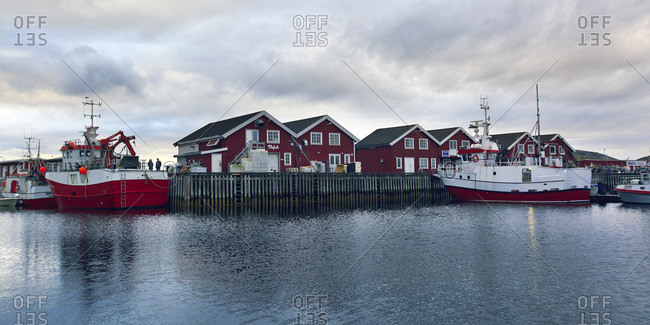Norway - August 22, 2018: Europe, Norway, Nordland, Bodo. Fishboats, bodo harbor