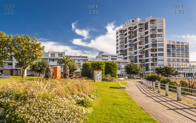 France - September 17, 2012: France, Charete-Maritime, Royan, Foncillon district, public space