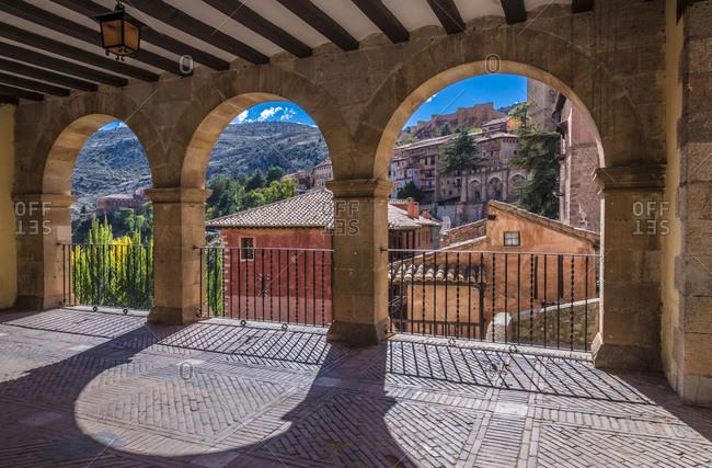 Spain, autonomous community of Aragon, Province of Teruel, Albarracin vilage (Most Beautiful Village in Spain), hall of the City hall