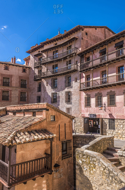 Spain - October 16, 2018: Spain, autonomous community of Aragon, Province of Teruel, Albarracin vilage (Most Beautiful Village in Spain)