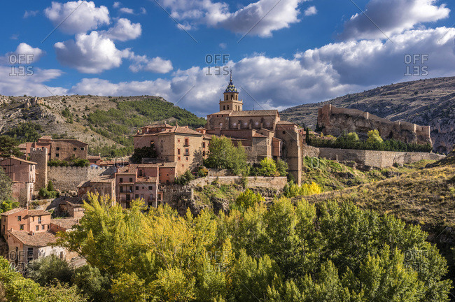Spain, autonomous community of Aragon, Province of Teruel, Albarracin vilage (Most Beautiful Village in Spain)