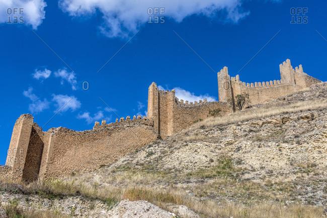 Spain, autonomous community of Aragon, Province of Teruel, Albarracin walls (Most Beautiful Village in Spain)