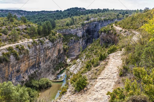 pain, autonomous community of Aragon, Sierra y Canons de Guara natural park, canyon of the Vero river (UNESCO World Heritage for the rock sites art)
