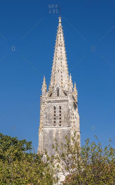 France, Charente Maritime, Moeze, belle tower of Saint Peter's church