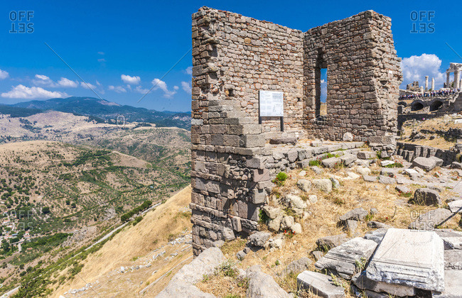Turkey, Archeological site of the former city of Minor Asia, Pergamon (Bergama) (3rd century BC and 2nd century AC) (UNESCO World Heritage), ruins of the sanctuary of Athena