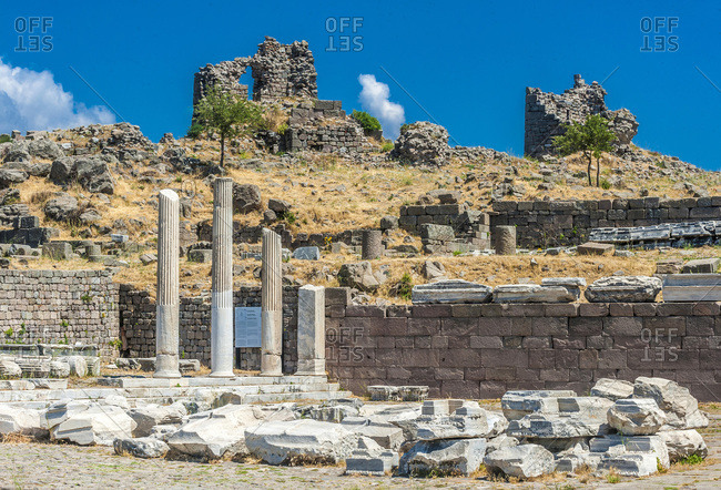 Turkey, Archeological site of the former city of Minor Asia, Pergamon (Bergama) (3rd century, BC; 2nd century AC) (UNESCO World Heritage), Acropolis