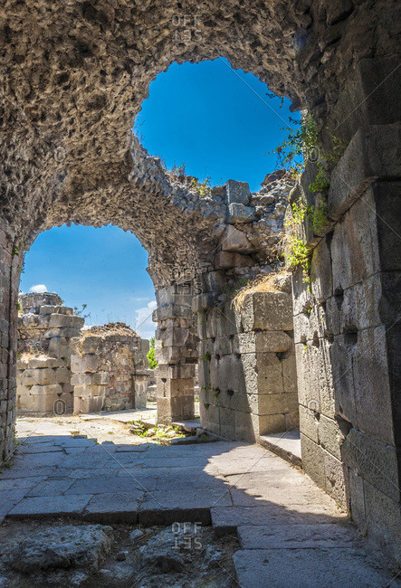 Turkey, Archeological site of the former city of Minor Asia, Pergamon (Bergama) (UNESCO World Heritage), Asclepeion (Temple dedicated to Asclepius, 2nd century)