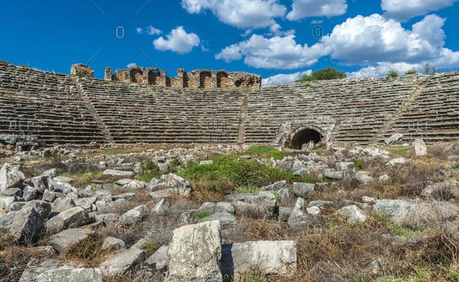 Turkey, Aphrodisias archeological Roman site, stadium (1st century BC) (UNESCO World Heritage)