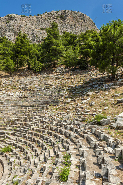 Turkey, Ionia, Priene Greek city, theatre (2nd century) (UNESCO World Heritage)