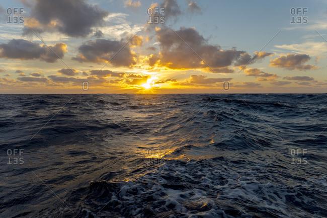 Europe, Mediterranean sea, sunset
