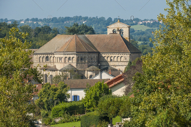 Nouvelle Aquitaine - Limousin - Haute-Vienne - Solignac, dominated by its abbey church