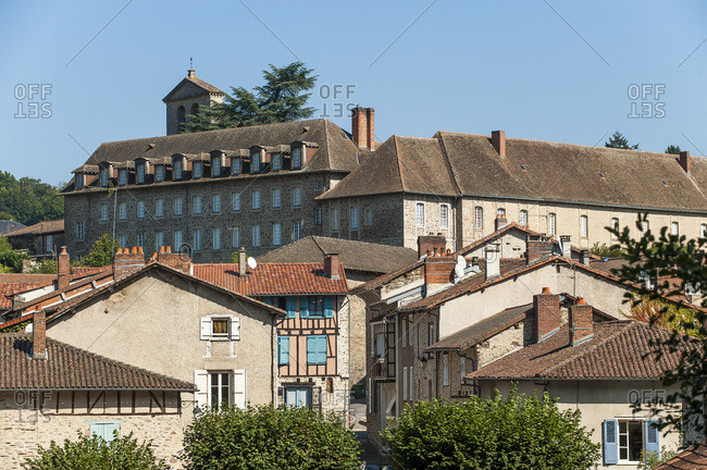 Nouvelle Aquitaine - Limousin - Haute-Vienne - The Solignac village dominated by the abbey
